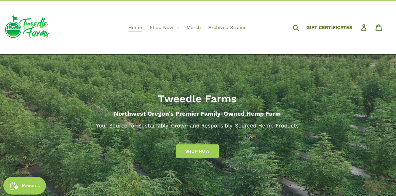 main page Tweedle Farms